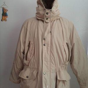 London Fog khaki hooded winter coat/jacket